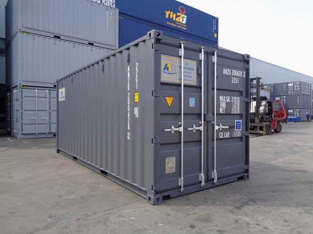 A1 Containers 20ft Std RAL7015 Grey Easy Open Door (1)