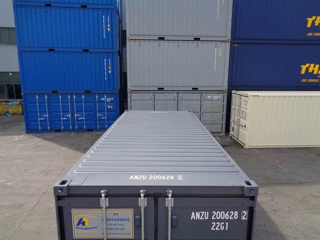 A1 Containers 20ft Std RAL7015 Grey Easy Open Door (4)
