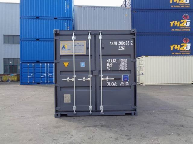 A1 Containers 20ft Std RAL7015 Grey Easy Open Door (8)