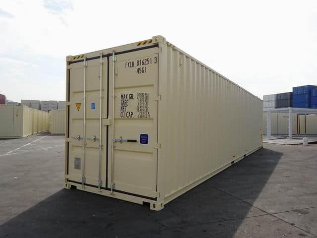MAIN - 40ft High Cube Double Door Beige A1 Containers (1)