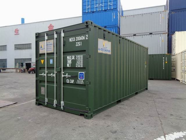 MAIN - A1 Containers 20ft Std RAL6007 (1)